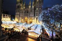La Place de la Cathédrale mise en lumières à Rouen