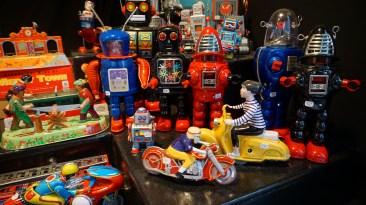 Jouets mécaniques d'antan à Nantes