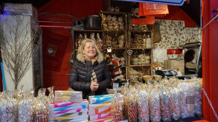 Chalet de nougat sur le marché de Noël de Nantes