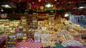 Chalet de pain d'épice sur le marché de Noël de Nantes