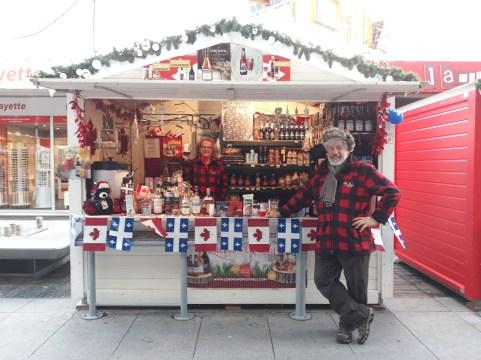 Chalet canadien sur le marché de Noël de Rennes