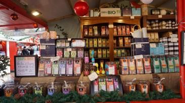 Chalet de chocolats et thés bio sur le marché de Noël de Nantes