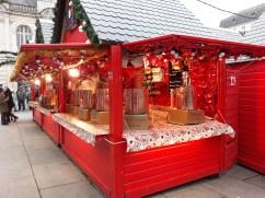 Chalet à vin chaud sur le Marché de Noël d'Angers