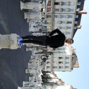 L'équipe de 2A Organisation découvre les installations du Voyage à Nantes place Royale