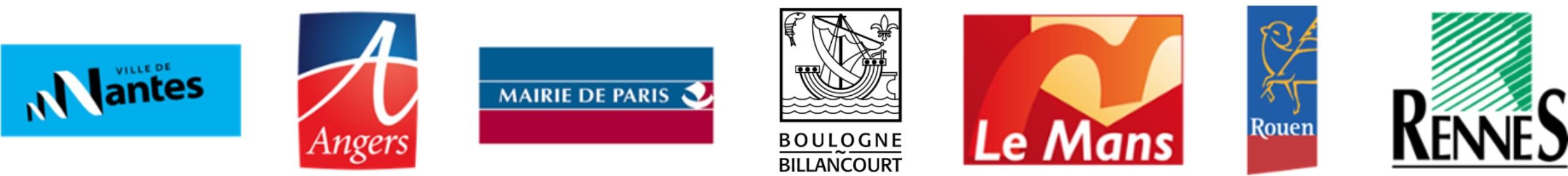 Logos de nos villes partenaires