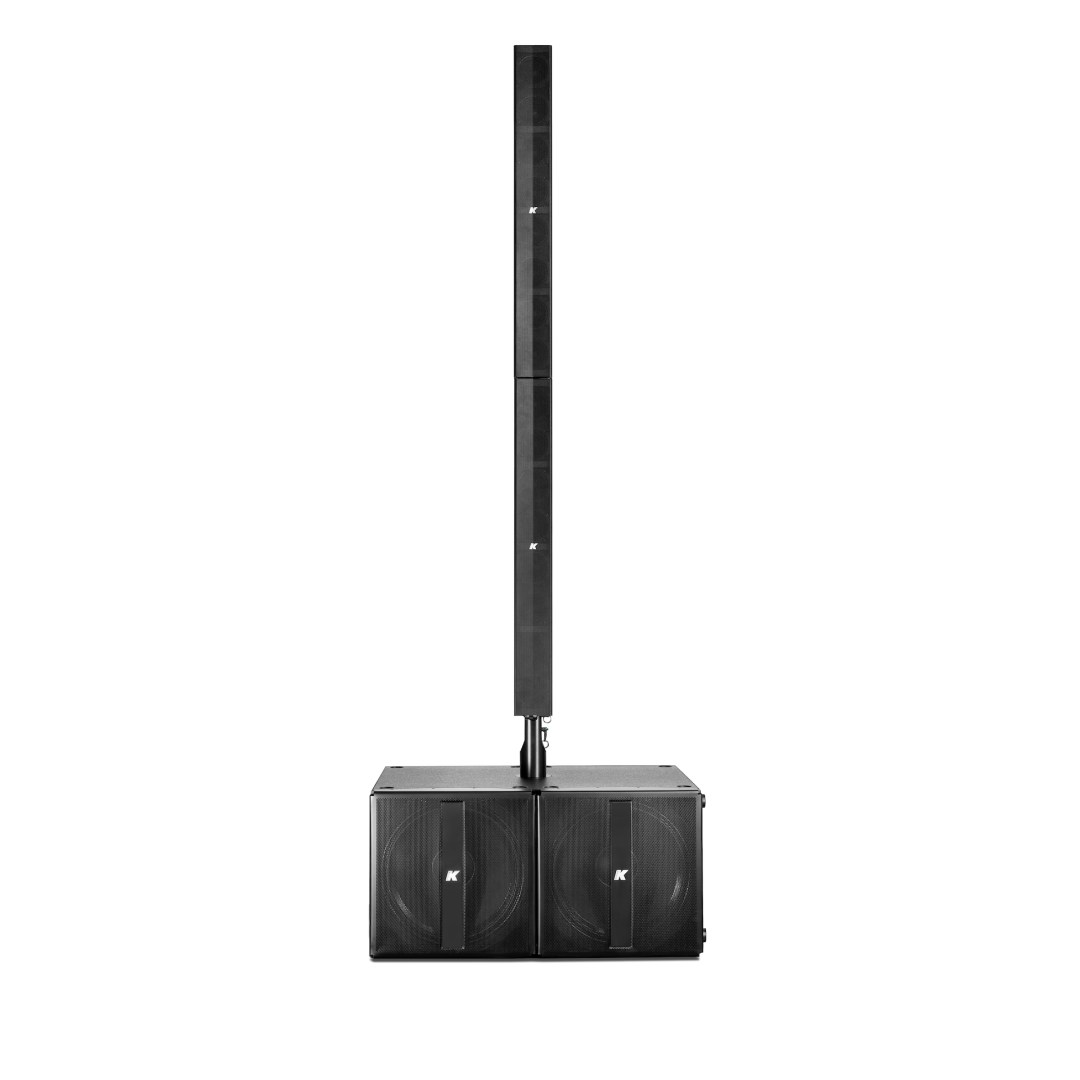 K-ARRAY Pinnacle KR802 advanced portable stereo system front view