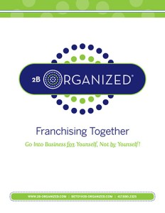 2B Organized Franchise Brochure