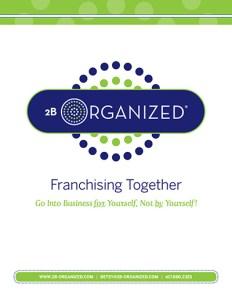 2B Organized Franchise Brochure