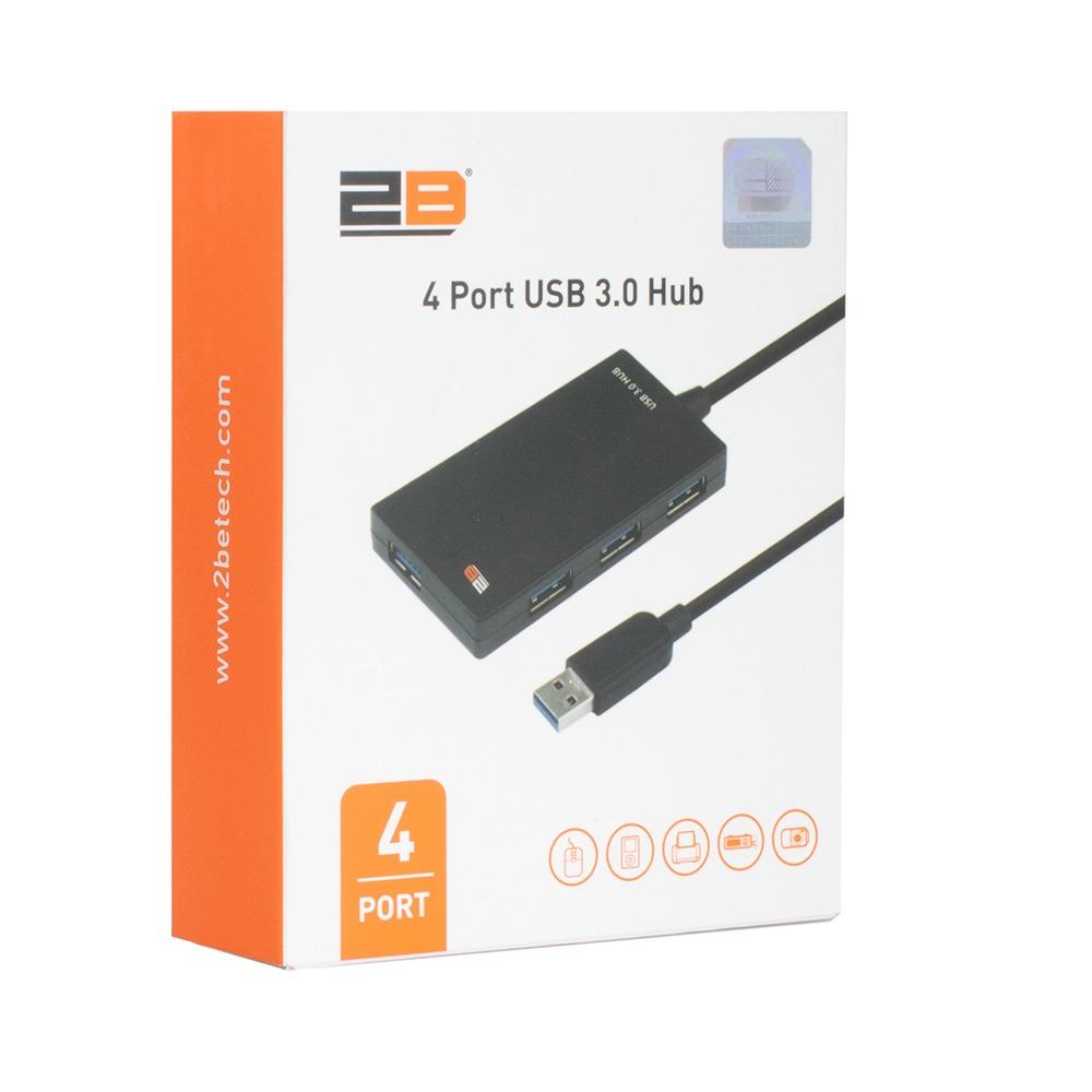 2B (CV136) - 4 Port USB 3.0 HUB Super Speed - Black