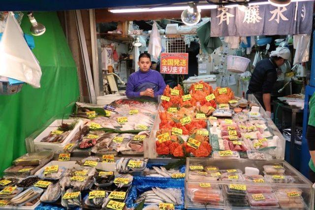 Crabs, Fish, Lobsters at Tokyo Tsukiji Fish Market