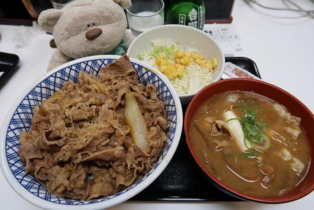 Yoshinoya Akihabara Tokyo Large Beef Bowl (960 yen), Curry Rice (350 yen)