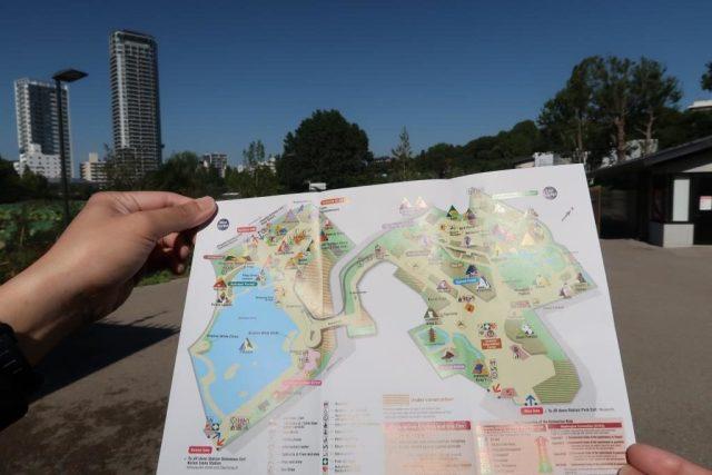 Ueno Zoo Map