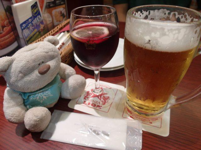 Sangria & Draft Beer Ginza Lion (银座) Beer Garden Shibuya Mark City