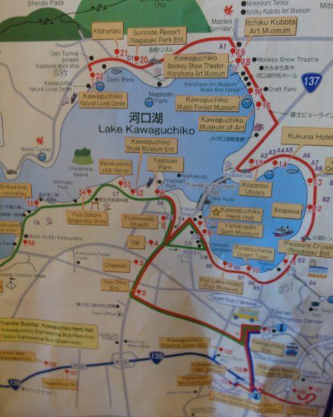 Sightseeing Bus Tour Red Line Lake Kawaguchiko Attractions