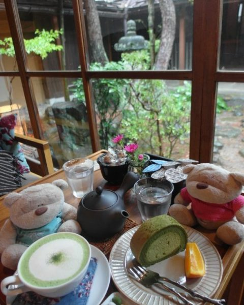 Matcha Latte Matcha Cake and Barley Tea Takayama Cafe