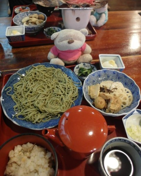 Soba Set Takayama Preservation Area (1450 yen)