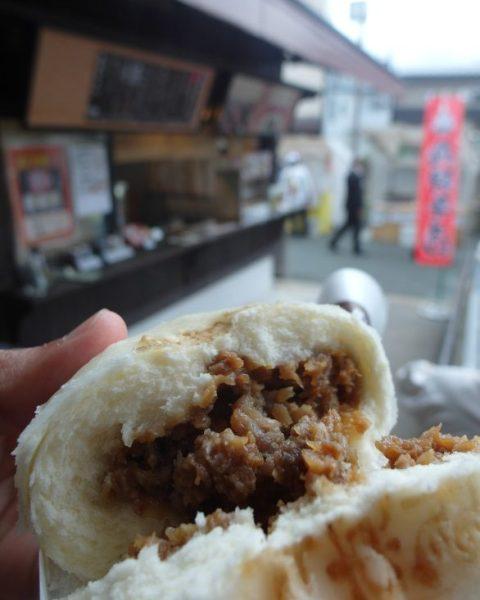 Inside Takayama Hida Beef Bun