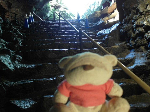 Stepping into Fugaku wind cave...chilly...