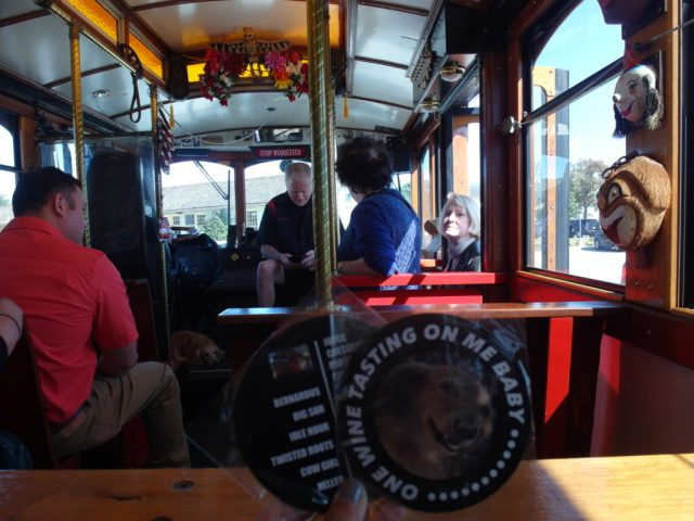 Monterey Wine Trolley Coasters