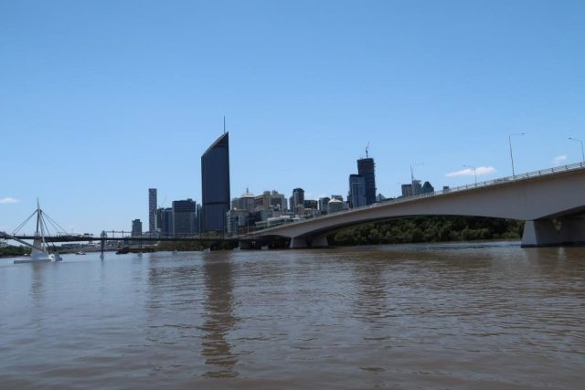 Another view of Brisbane CBD from Brisbane River
