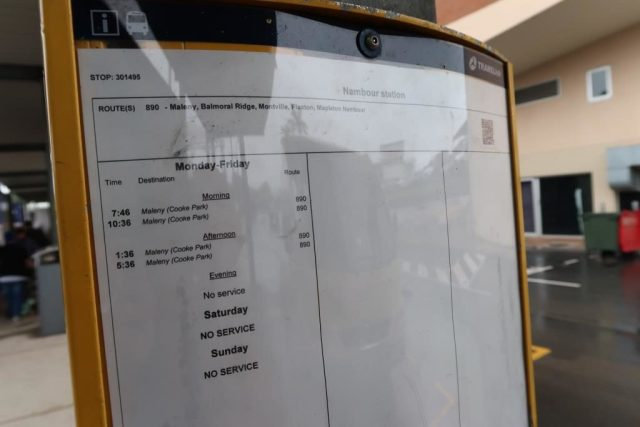 Bus Schedule from Nambour Station to Montville on Bus 890