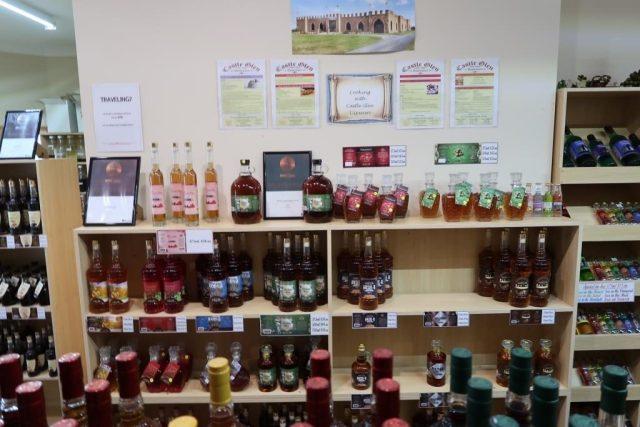 Many different liqueurs at Castle Glen Fudge Montville