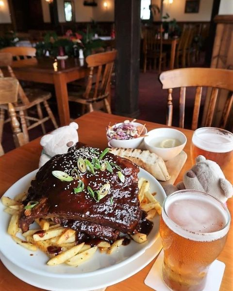 Montville Cafe Bar & Grill King Henry Ribs ($39)