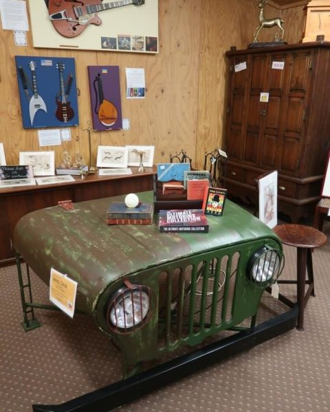 Table converted from a jeep?! Found at Flaxton Barn