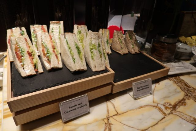 Sandwich selection Business SilverKris Lounge