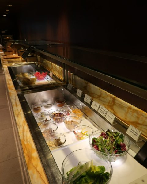 Food selection Business Class SilverKris Lounge Changi Airport