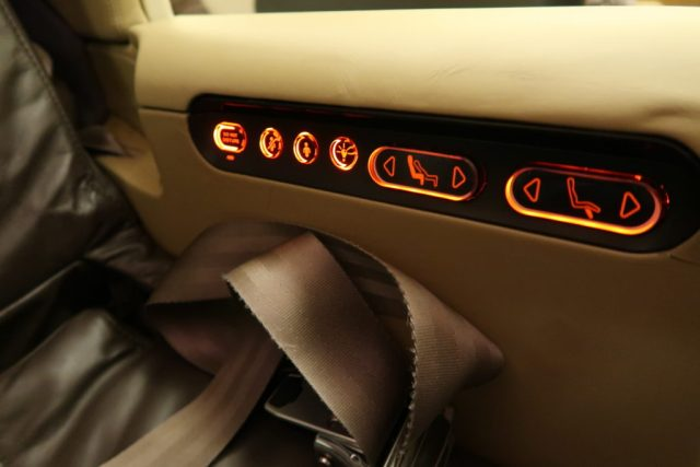 Singapore Airlines 777-300ER Business Class Seat Controls