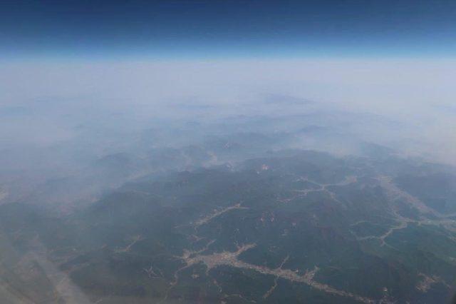 View of Busan from Beijing Busan Air China Business Class Flight