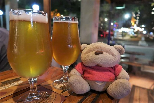 2bearbear having Newstead and Four Hearts at the Scratch Bar Brisbane