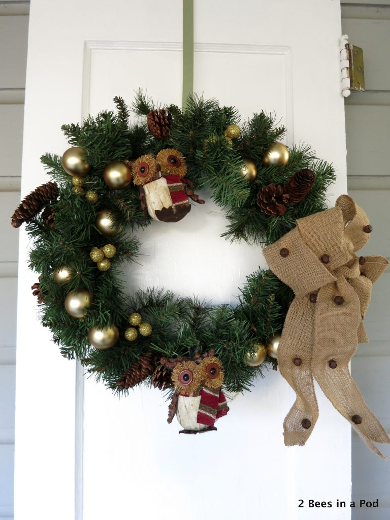 Woodland Owl Christmas Wreath 2 Bees In A Pod