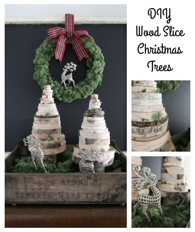 DIY Wood Slice Christmas Trees