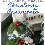Diy Fabric Wrapped Christmas Ornaments Thrifty Style Team 2 Bees In A Pod
