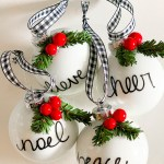 Easy Diy Personalized Christmas Ornaments Thrifty Style Team 2 Bees In A Pod