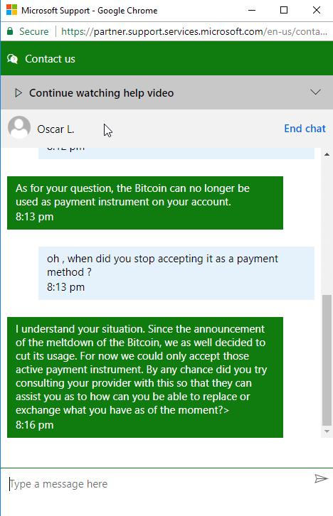 Microsoft отказывается от биткоин?