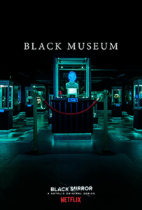 "A dark museum with the words ""Black Museum"" over the picture."
