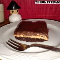 Σοκολατένια μπράουνις με φυστικοβούτυρο