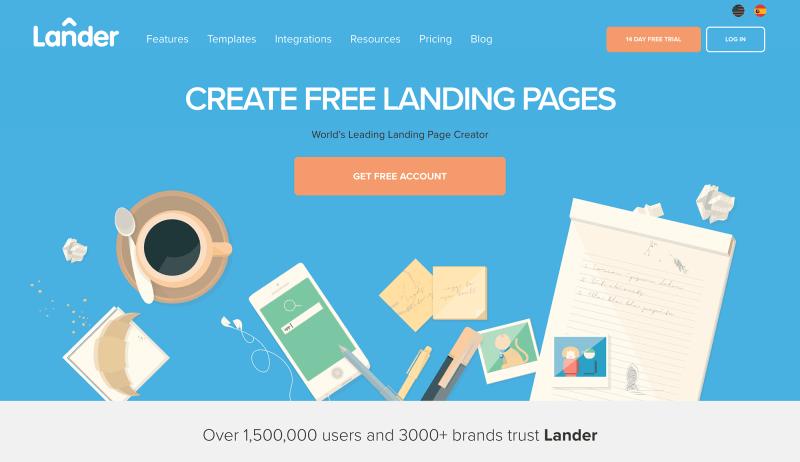 LanderApp Landing Page Designs