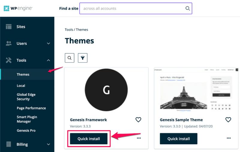 Install StudioPress Theme