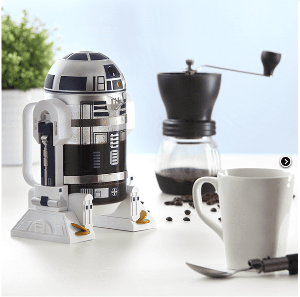 R2-D2 coffee press with assessors