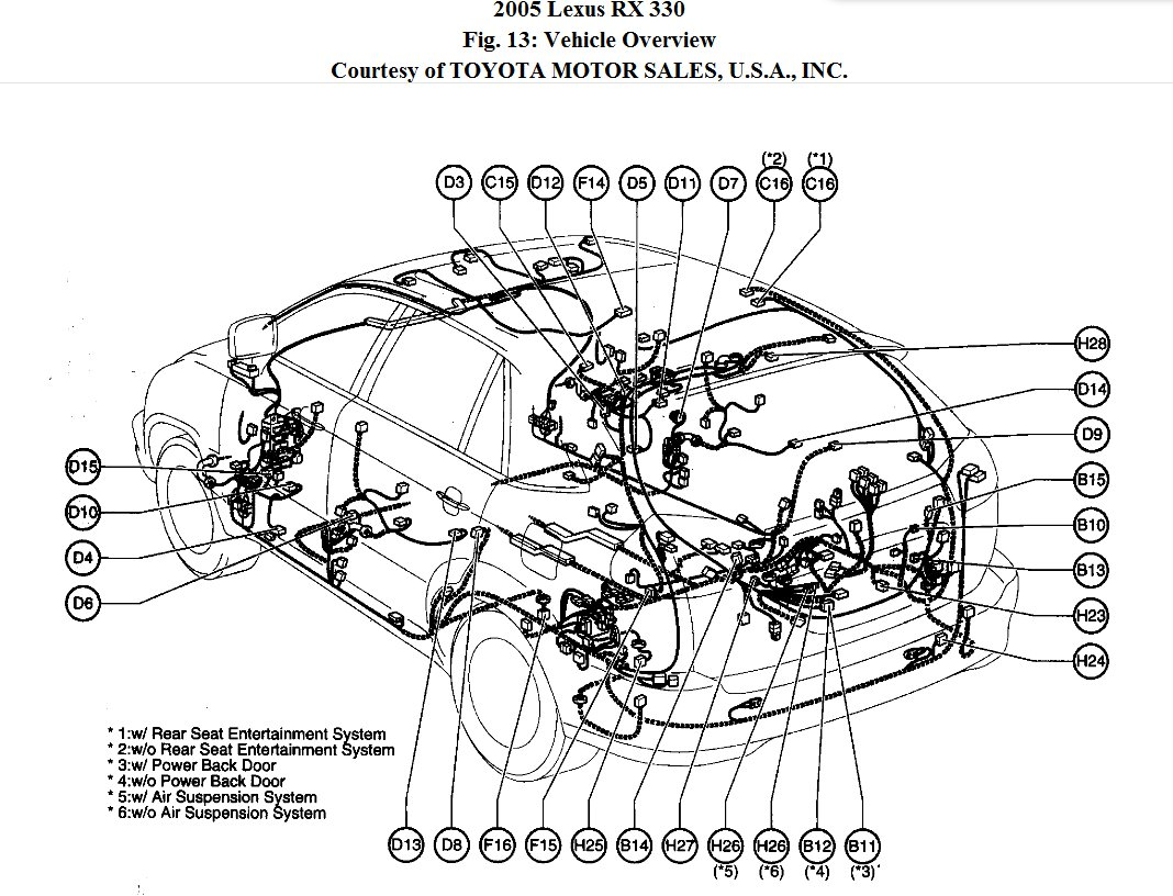 2004 Lexus Rx330 Light Diagram. Lexus. Auto Parts Catalog