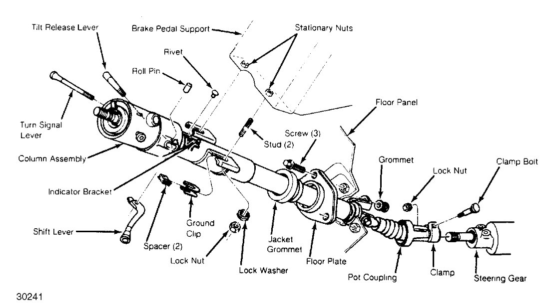 1988 Chevrolet S-10 Steering Column Complete Tear Down
