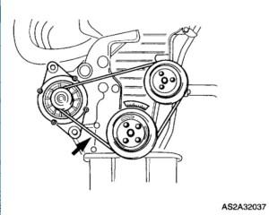 2003 Kia Spectra Replacing Alternator Belt: 2003 Kia Spectra 4 Cyl