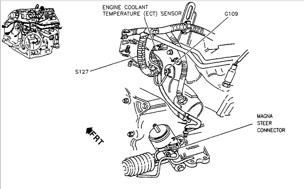 Engine Coolant Temperature Sensor: V8 Front Wheel Drive