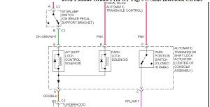 Wire Diagram for Shift Lock Solenoid: Hello How Are You