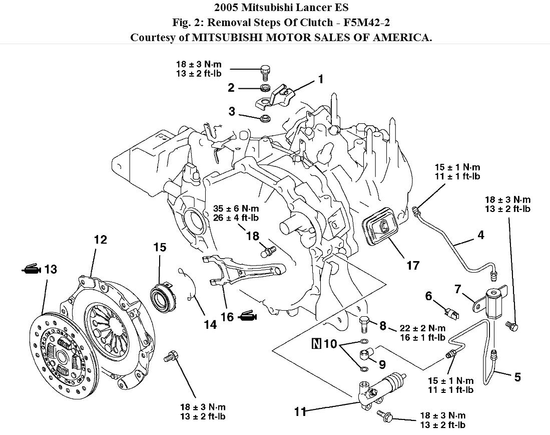 Mitsubishi Engine Diagram Clutch Engine For