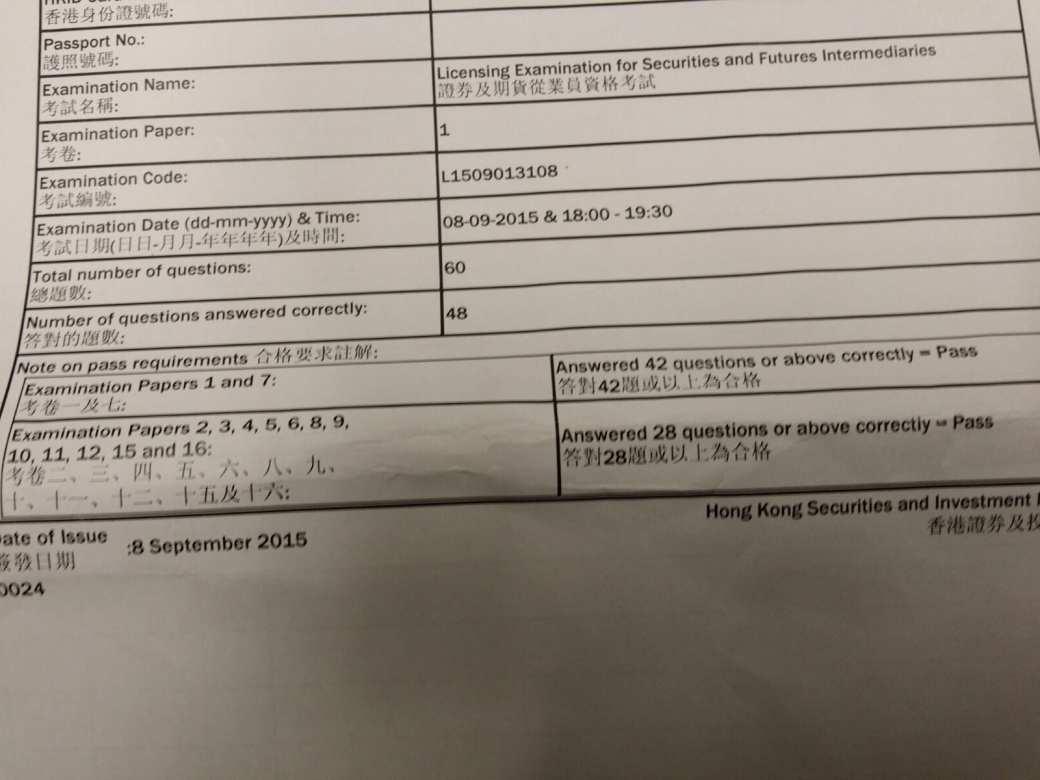 Zzpiao 8/9/2015 HKSI Paper 1 Pass